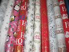 5 - 40 METRES WRAPPING PAPER GIFT WRAP CHRISTMAS BIRTHDAY ROLLS MIXED DESIGNS