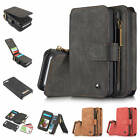For iPhone SE 5 5S Luxury Cowhide Leather Hardcover Zipper Wallet Case Cover Set