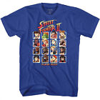 Street Fighter 2 Video Game Player Select Adult T Shirt  image