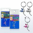 Illusion Test Belly Button Piercing Fairy Zirconia Lady Fake Clip Clamp Silver