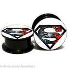 Spiderman Superman Screw on Ear Plug Expander Stretcher - 6mm - 25mm