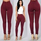 Fashion Womens Denim Skinny Pencil Jeans Pants High Waist Slim Jeans Trousers