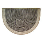 "46""x31"" Tweed Braided Half Round Fireplace Hearth Rug Carpet"