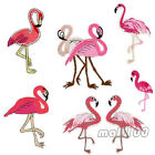 Bird Flamingo Embroidered Iron On Sewing On Applique Fabric Animals Patch Badge