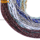 AAA Grade Natural Stone Faceted Rondelle Spacer Beads For Jewelry Making 15''