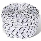 #bNew 6/8/10/12/14mm x 50m Polyester Braided Core Rope Coil Boat Dock Line
