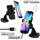 Qi Wireless Car Charger Dock Mount Holder For Samsung Galaxy S8 S7 S6 HUAWEI W3