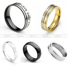 Mens Women's Couple Love Only You Steel Crystal Wedding Bands Promise Rings Gift
