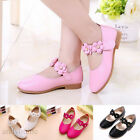 New Kids Baby Girl Princess Shoes Leather Flowers Wedding Party Prom Shoes Flats