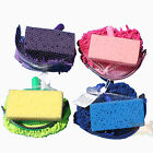 Horse Wash Bath Bathing Grooming Kit Bag Set Sponge Scraper Glove Mitt