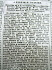 3 1874 newspapers MILL RIVER DAM FLOOD disaster - Northampton MASSACHUSETTS