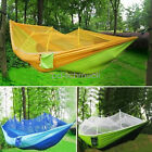 Portable Hammock Parachute Nylon Swing Hanging Bed Outdoor Camping For 2 Persons