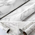 New Marble Contact Paper Self Adhesive Glossy Worktop Peel Stick Wallpaper LAUS