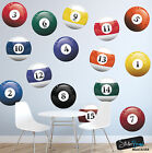 Realistic Color Billiard Balls Wall Decal Sticker for Game Room #6089 $69.95 USD on eBay