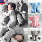 HOT US Baby Kid Cushion Lumbar Pillow Long Nose Elephant Plush Stuffed Toys Doll