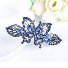 Crystal Metal Butterfly Hair Clip Flowers Hairpin Rhinestone Bow Knot Barrette
