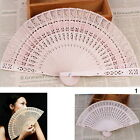 Thboxs Chinese Folding Bamboo Original Wooden Flower Hollow Carved Hand Fan