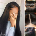 Glueless Ladies 100% Human Hair Lace Front Wigs With Baby Hair Natural Black Wig