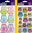 U CHOOSE Sticko Dimensional Stickers HOOTERS & PATTERENED OWLS
