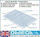 Lean To Conservatory Roof Kit DIY - 2.5m Projection, 10/16/25mm Polycarbonate