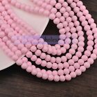 Lot 4mm/6mm/8mm Charms Round Glass Coated Colors Loose Spacer Seed Beads Making
