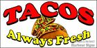 (CHOOSE YOUR SIZE) Tacos DECAL Concession Food Truck Vinyl Sticker