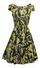 New Ladies  VTG 1940's 50's style Hawaiian Hibiscus Floral Summer Holiday Dress
