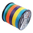 New!100M-2000M 10-300LB Multi-Color100% PE Dyneema Agepoch Braided Fishing Line