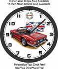 TRIUMPH TR6 RED WALL CLOCK-FREE USA SHIP!-BMW, MERCEDES BENZ, VOLKSWAGEN $51.99 USD on eBay