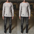 Men's Punk Rock Gothic Destroyed Ripped Holes Denim Jeans Trousers Long Pants
