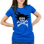 Goku Skull T-Shirt Damen son dragon super saiyajin totenkopf ball vegeta balls