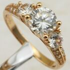 Size 6 7 Awesome Great White CZ Gems Jewelry Rose Gold Filled Woman Ring R1872