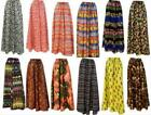 PLUS SIZE HIPPIE BOHO DRAWSTRING MULTI PATTERN DIGITAL PRINT MAXI SKIRT ONE SIZE