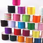 100 Meters Nylon String Chinese Knot Synthetic Silk Cord 0.8mm Pick Your Color