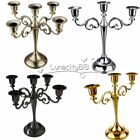 3 / 5 Arm Candle Holder Candelabra Dining Table Wedding Shabby Vintage Chic Home