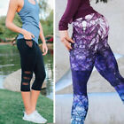NEW Women Sports Yoga Workout Gym Fitness Mesh Leggings Pants Athletic Pant S757