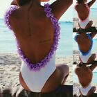 Fashion Women One Piece Swimwear Swimsuit Monokini Backless Bikini Bathing Suits