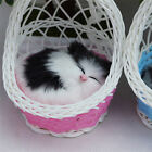 Lovely Simulation Animal Doll Plush Basket Cats Toy with Sound Kids Toy Gift