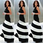 Sexy Women Summer Boho Long Maxi Evening Party Beach Dresses Chiffon Dress ETU