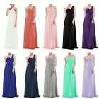 Womens One Shoulder Long Maxi Bridesmaid Dress Party Evening Prom Gown Formal