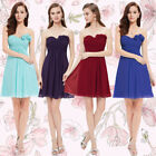 Ever Pretty Strapless Flower Ruffles Padded  Chiffon Bridesmaid Dress 03543