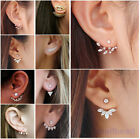 1 Pair Stylish Women Lady Elegant Crystal Rhinestone Ear Stud Earrings Charming