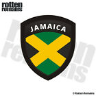 Jamaica Flag Shield Decal Badge Jamaican Car Vinyl Sticker V2 M44