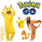 Adult / Kid Animal Onesie Pajamas Pokemon Charmander Pikachu Costume