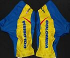 COLOMBIA TRICOLOR TEAM CYCLING SHORTS LARGE NEW * FREE CICLISMO SKULL CAP !!
