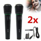 Pro Dual VHF Handheld Wireless Microphone Mic System Kareoke Cordless set w/box