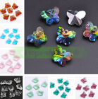 Wholesale 14mm Czech Faceted Butterfly Hanging Pendant Crystal Glass Loose Beads