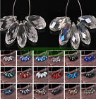 Kyпить 10/100PCS 12x6mm Crystal Glass Faceted Teardrop Loose Spacer Drop Beads Findings на еВаy.соm