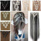 Silky Natural Full Head 145g Clip in Hair Extensions 8pieces for Human Hair SS97