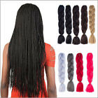 "24"" Two Tone Ombre Dye Kanekalon Jumbo Braids Hair Extensions Fiber Hiphop New"